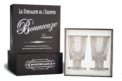 Pontarlier Absinthe Glasses, Set Of 2, With Gift Box