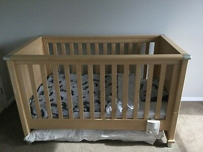 mamas and papas baby cot Timber