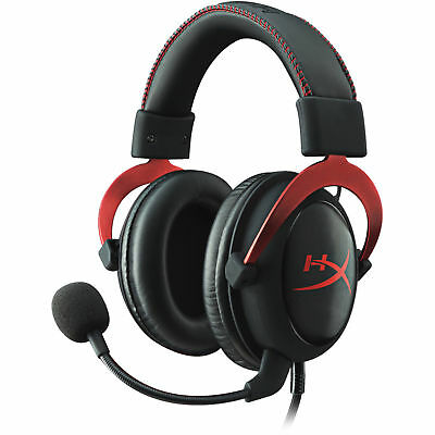 HyperX Cloud II Gaming Headset for PC and PS4 - Red KHX-HSCP-RD