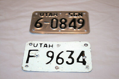 Lot 2 UTAH MOTORCYCLE LICENSE PLATE 6-0849 / F 9634