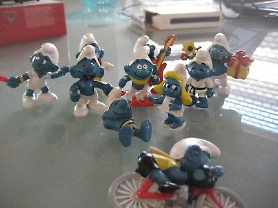 Collection of smurf, smurfs  Lot B