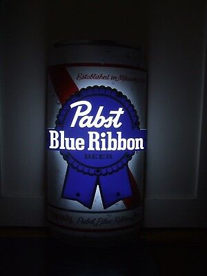 Pabst Blue Ribbon Led Beer Sign Man Cave Garage Can Shaped Pbr Light