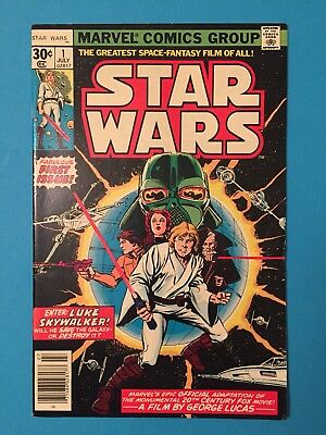 1 STAR WARS #1 / FIRST 1ST PRINTING / MARVEL JULY 1977 / Shows Well