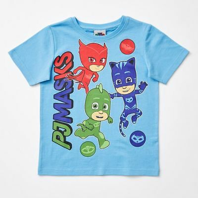 NEW PJ Masks Print T-Shirt Kids