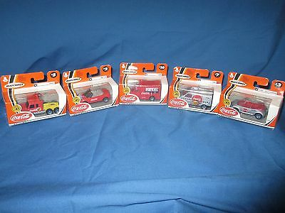 Coca Cola 50th Anniversary Die Cast Vehicles - Lot of 5