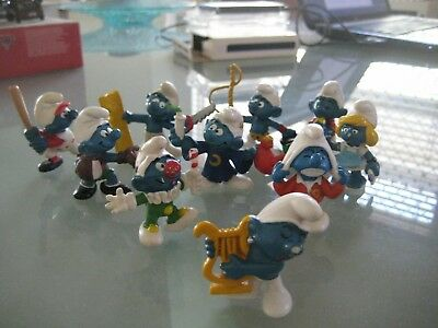 Collection of smurf, smurfs  Lot D
