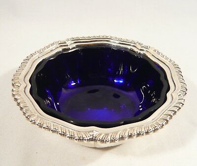 Quality made Collins Silverplate MAYONNAISE BOWL Glass Liner Gadroon Nice HEAVY
