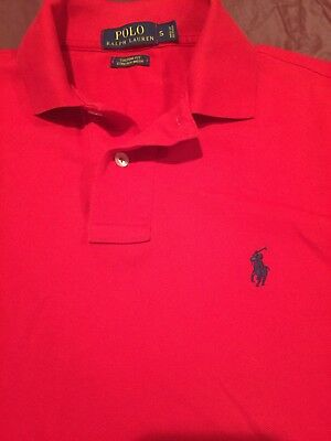 POLO by Ralph Lauren Short Sleeve Shirt Red Size Small