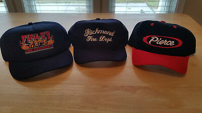 PIERCE Manufacturing- Finley Fire - Richmond Fire Department Ball Caps - Hat Lot