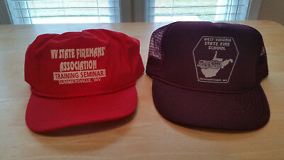 West Virginia State Fireman's Association and WV State Fire School Hat Lot FD