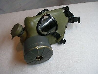 vintage u.s. military,1950's gas mask w/canister filter