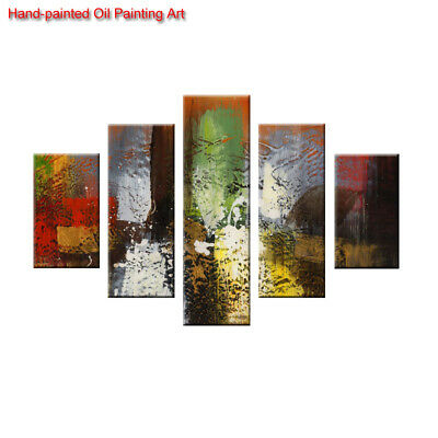Large Framed Canvas Art Wall Decor Hand-painted Modern Abstract Oil Painting 01