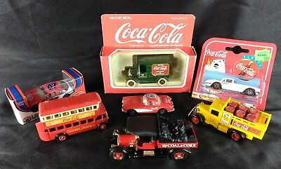 Coca-Cola Die-cast Metal Collectible Vehicle Lot