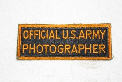 Original WW II Military Patch Official Photographer  Excellent Condition