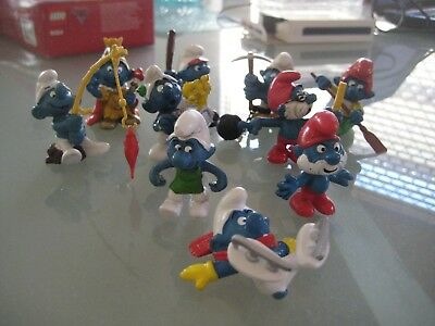 Collection of smurf, smurfs  Lot F