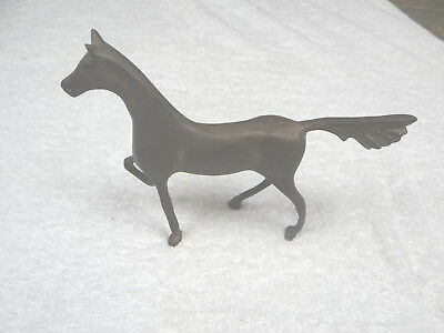"""Vintage Antique, 7x8.5"""" Heavy Solid Brass Decorative Horse, Paperweight Display"""