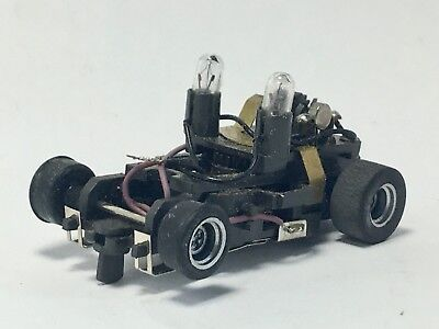 Aurora AFX Clear Overhead Lights Police Car MT Chassis, Lights Working