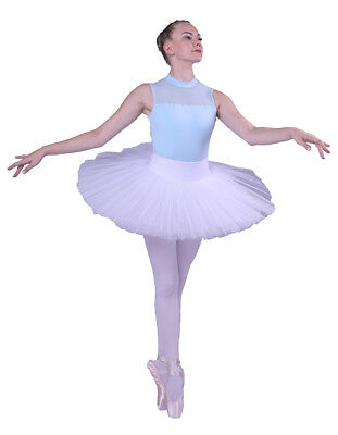 New Ladies Professional Ballet Tutu 5Layers Hard Organdy Platter Tutus Skirt -BZ