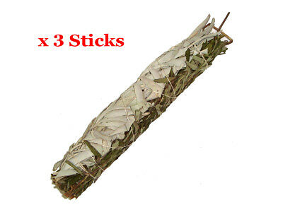 "Smudge Stick WHITE SAGE and LAVENDER - Large 9"" / 22cm - BULK Pack of 3"