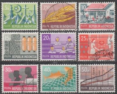 INDONESIA 1969 FIVE-YEAR DEVELOPMENT PLAN (63) STAMPS 7 SETS of (9)  VFU
