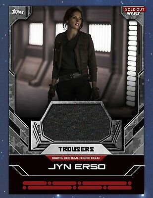 Topps Star Wars Card Trader JYN ERSO Costume Fabric Relic Trousers 141cc