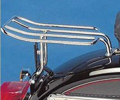 Harley Sportster & Dyna Chrome Luggage Rack - For Dual Seat - 94 to 2010 - VGC