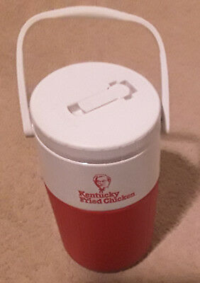 Vintage 1980s KFC 'KENTUCKY FRIED CHICKEN' Drink Flask Cooler RETRO *Made in USA