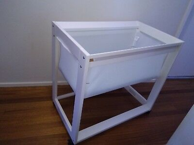 Boori Arched Bassinet White With Mattress