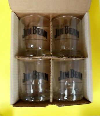 Early Boxed Set Of Four Jim Beam Executive Glasses  Never Used