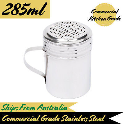 Salt Dredge With Handle 285mL Stainless Steel Seasoning Shaker Sugar Spice Pepp