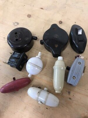 Bakelite On / Off Light Switches Lamps Etc Vintage Unusual Ones - P300