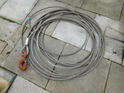 Used 25m Tirfor 16.3mm 3.2t wire rope with hook