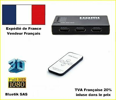 5 port Commutateur HDMI HUB 1080p Switch Splitter + Télécommande IR (A2