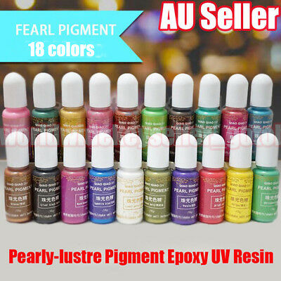 18 Colors Pearly-lustre Pigment Epoxy UV Resin Coloring Dye Colorant Art 15g BPP