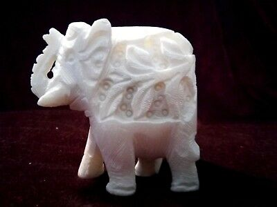 White Elephant Incense Holder/Burner Stick & Cone  Hand Carved made in India