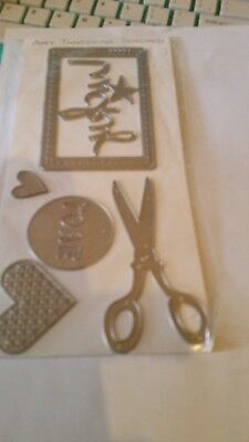 Amy Tangerine Stitched Steel Craft Dies set on card New Free Post