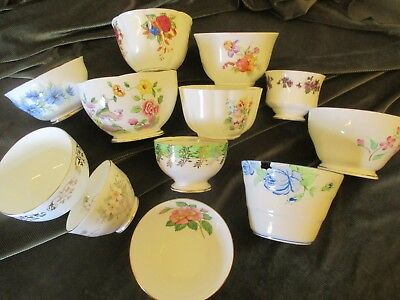 Fine  Job Lot Of 5 Mismatch Vintage Sugar Bowls For  Parties/tearooms,weddings