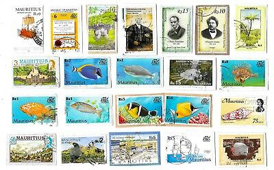 MAURITIUS - Selection of Stamps on Paper - All Different