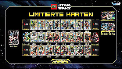 Lego Star Wars Trading Cards Card Game Gold Collection limitiert LE1 - LE24 NEU