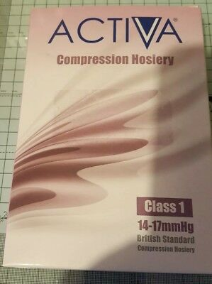 ACTIVA new compression hosiery Class 1 M Medium Below Knee. 2 stockings - Sand