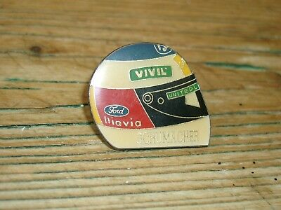 Michael Schumacher Msc Helm 1992 Benetton Formel Eins F1 Pin Button Metall