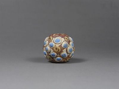 A  Large  Ancient  Chinese  Composite Glass Bead from Warring States Era #L09
