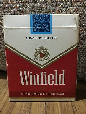 Old Winfield Red 25s Australian Cigarette Advertising Packet