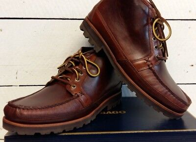 Men's Sebago Vershire Chukka Brown Waxy Leather Lace Up Boots
