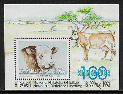 Namibia #732a MNH S/Sheet - Cattle - Cows