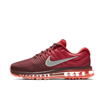 5ddb91d5d9f5 Nike Air Max 2017 Men s Shoes Sizes 10-13 Night Maroon Gym Red Siver 849559