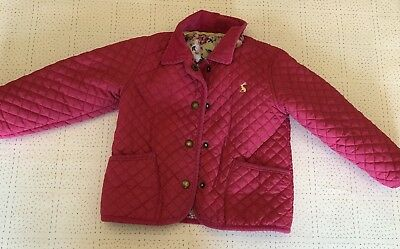 Girls Pink Quilted Joules Jacket - Age 2-3
