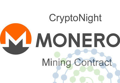 120 hours Monero XMR Cryptonight v7 Mining Contract 230H/s