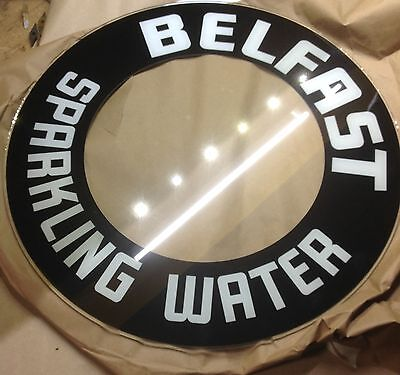 glo dial vintage electric neon clock belfast  water glass replacement 19 inch