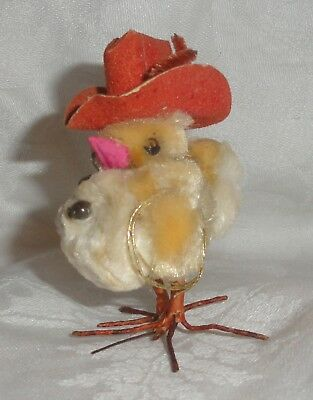Vintage Spun Cotton Cowboy Chick with Hat and Lasso Rope